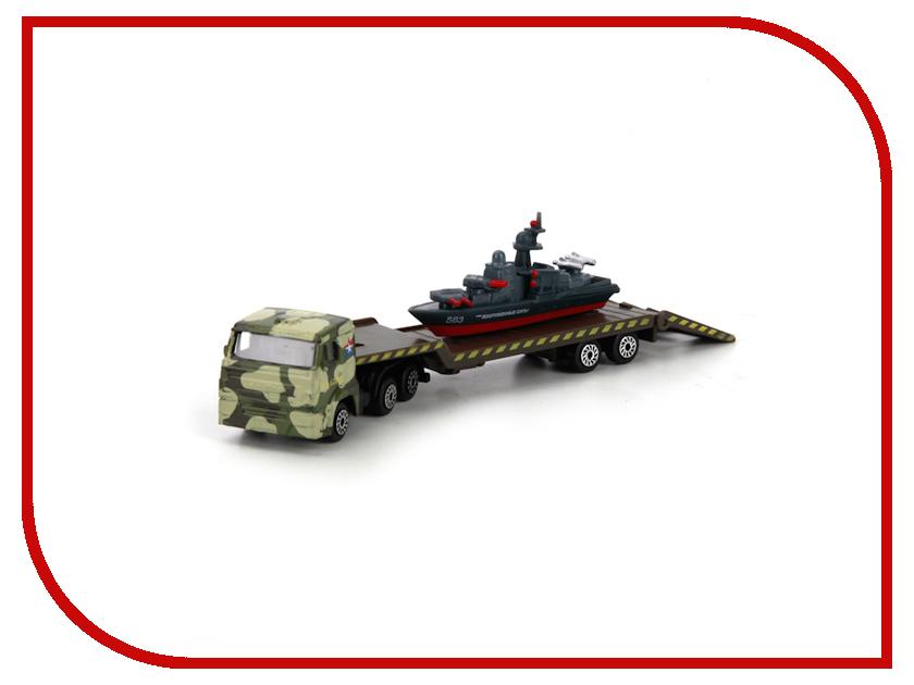 Игрушка Технопарк КАМАЗ перевозчик с кораблем на прицепе SB-16-61WB<br>