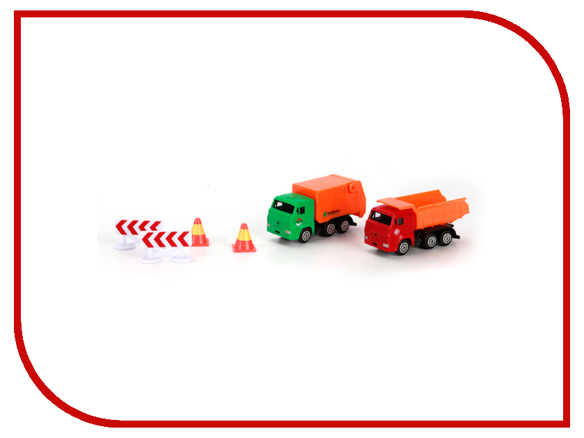 Игрушка Технопарк КАМАЗ стойтехника с дорожными знаками SB-16-62WB<br>