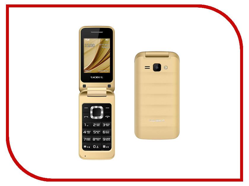 Сотовый телефон teXet TM-304 Gold радиотелефон texet tx d6705a