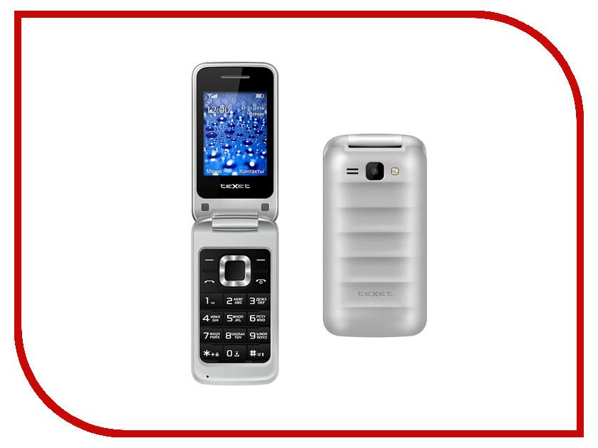 Сотовый телефон teXet TM-304 Silver радиотелефон texet tx d6705a