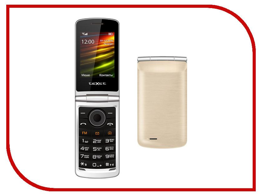 Сотовый телефон teXet TM-404 Gold радиотелефон texet tx d6705a