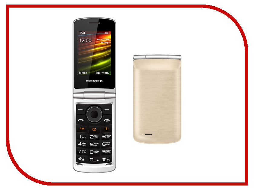 Сотовый телефон teXet TM-404 Gold мобильный телефон texet tm 404 красный 2 8 page 4
