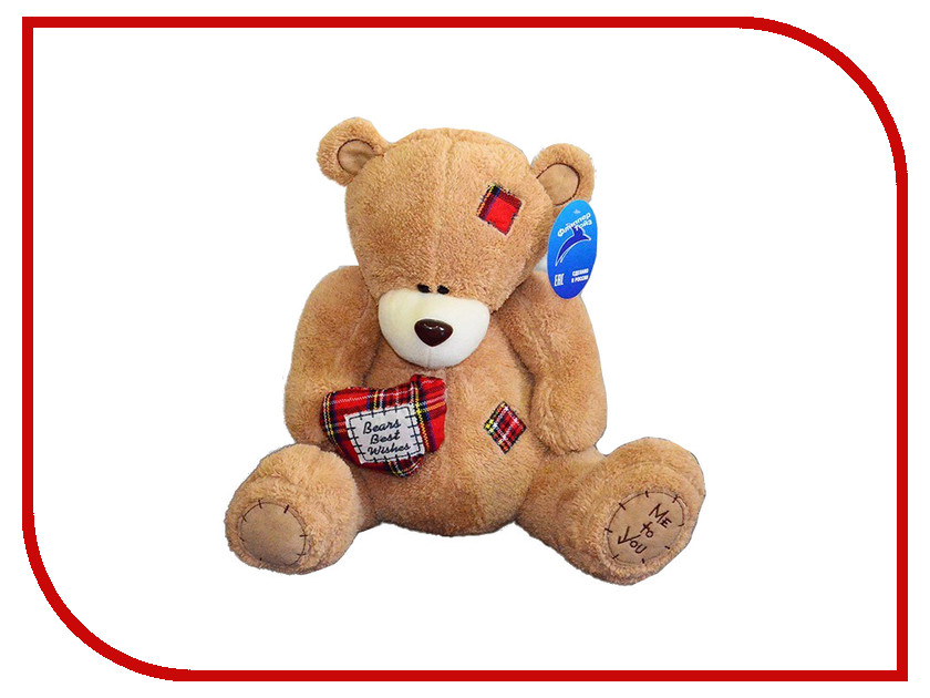 Игрушка антистресс Флиппер Мишка с сердцем Brown ФЛ619