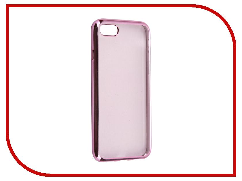 Аксессуар \ аксессуар чехол ibox element для apple iphone 7 plus red gold frame