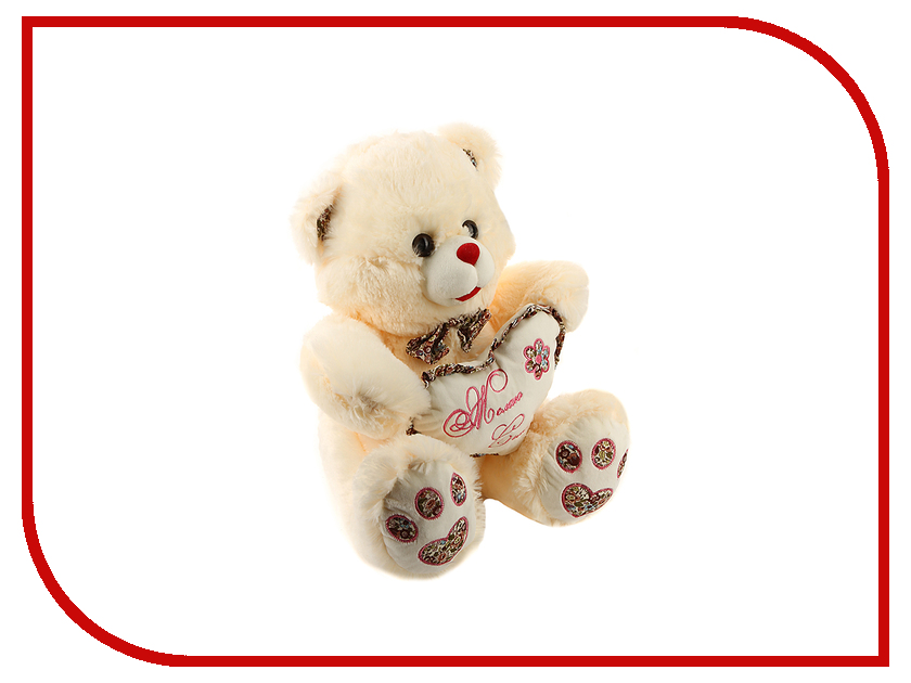 игрушка Флиппер Мишка с сердцем ФЛ219 игрушка флиппер мишка в футболке brown фл602