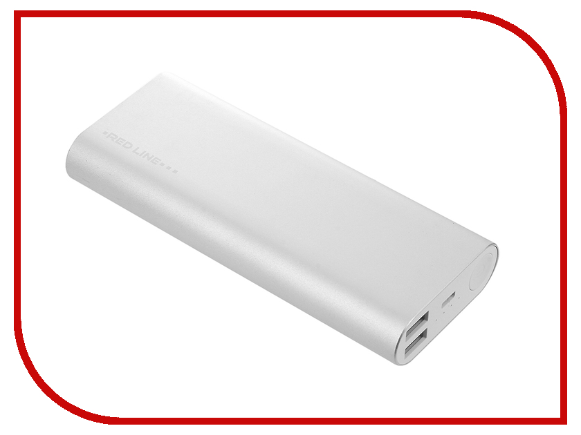 Аккумулятор Red Line H16 Power Bank 10000mAh Silver УТ000010088 аккумулятор red line t2 8000mah pink