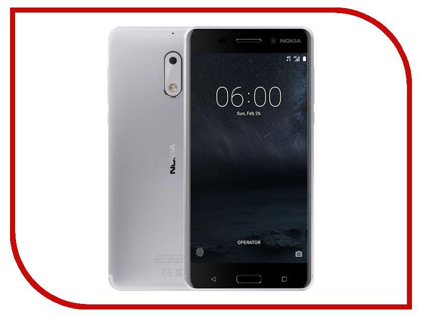 Сотовый телефон Nokia 6 32GB Silver сотовый магазин интернет
