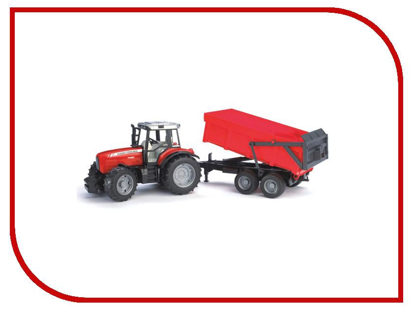 Игрушка Bruder Massey Ferguson 7480 трактор с прицепом-самосвалом 02-045<br>