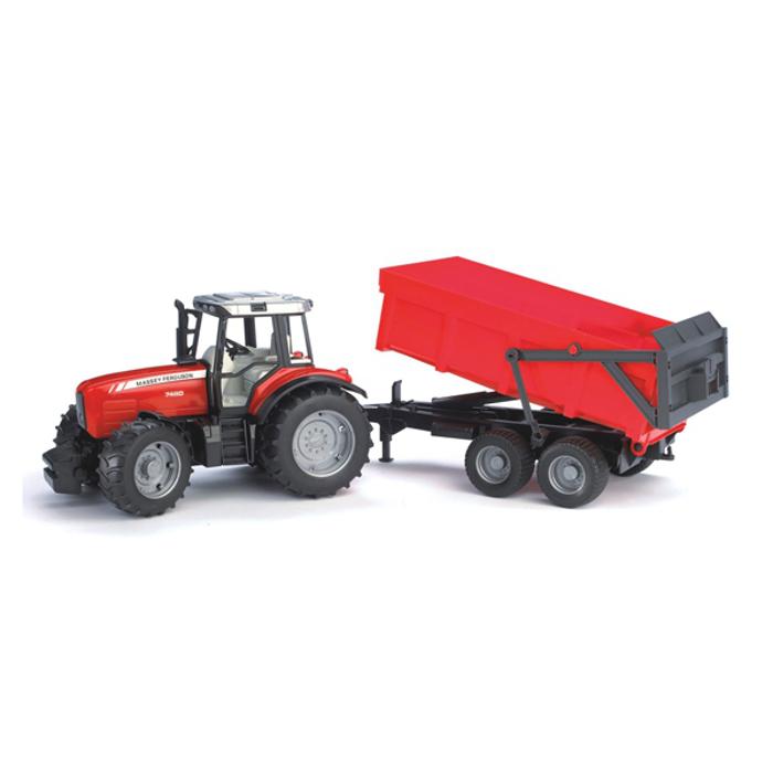 Игрушка Bruder Massey Ferguson 7480 трактор с прицепом-самосвалом 02-045