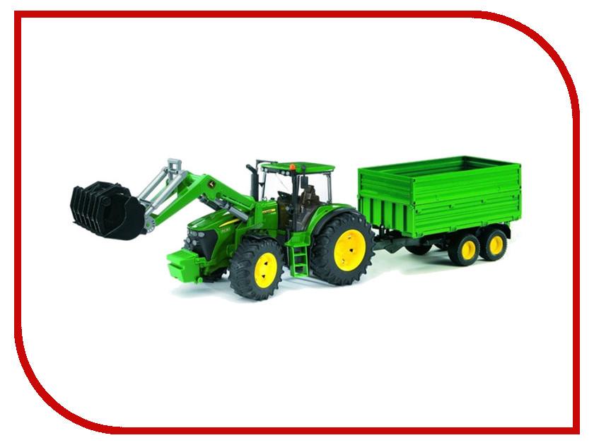 Игрушка Bruder John Deere 7930 трактор с погрузчиком и прицепом 03-055 машины tomy трактор john deere 6830
