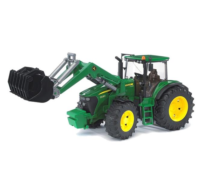 Игрушка Bruder John Deere 7930 трактор с погрузчиком 03-051