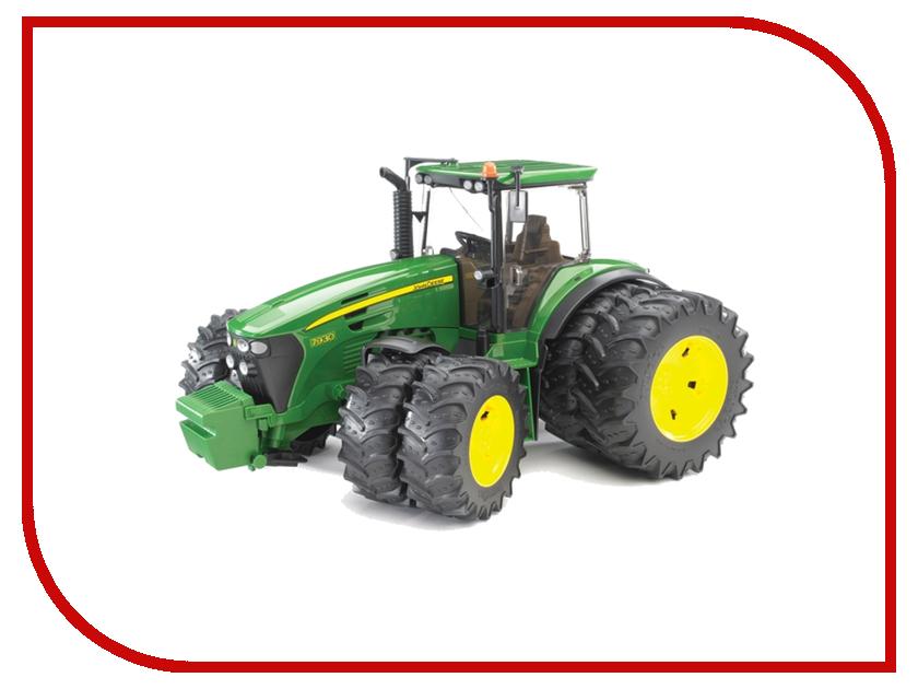 Машина Bruder John Deere 7930 трактор с двойными колёсами 03-052 bruder трактор john deere 7930 с двойными колесами