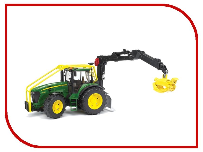 Машина Bruder John Deere 7930 трактор лесной с манипулятором 03-053 машинки tomy трактор john deere 6830 с двойными колесами и фронтальным погрузчиком