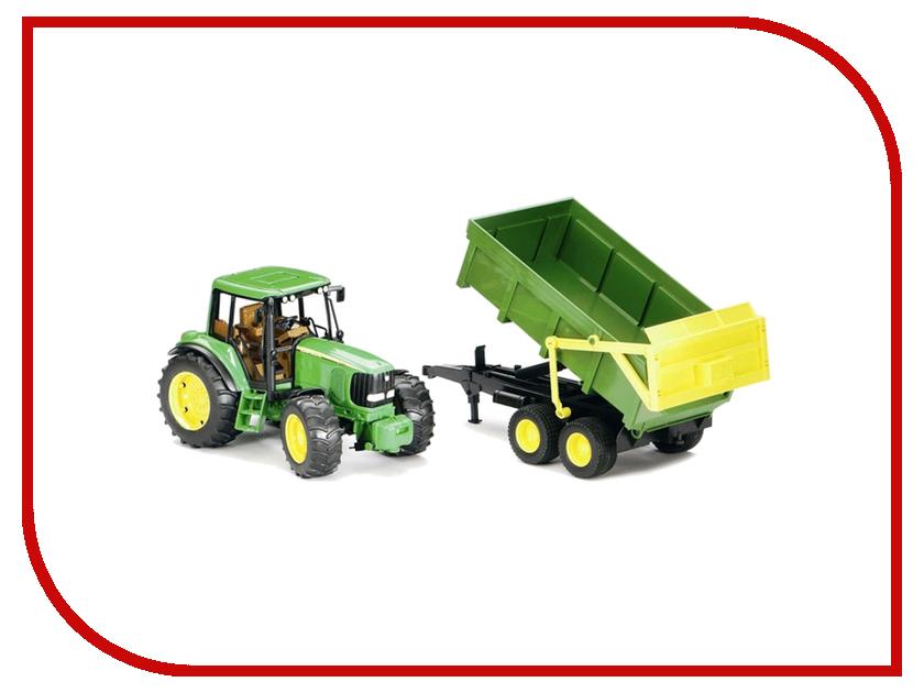 Игрушка Bruder John Deere 6920 трактор с прицепом 02-058 машинки tomy трактор john deere 6830 с двойными колесами и фронтальным погрузчиком