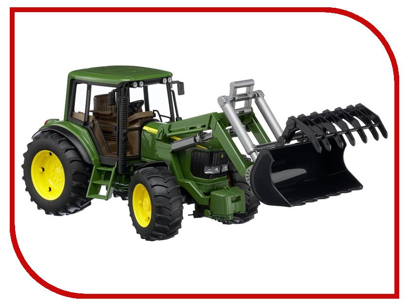 Игрушка Bruder John Deere 6920 трактор с погрузчиком 02-052 tomy britains трактор john deere 6210r