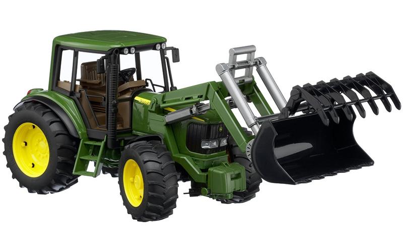 Игрушка Bruder John Deere 6920 трактор с погрузчиком 02-052