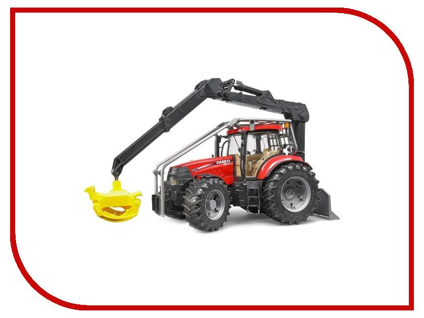 Игрушка Bruder Case CVX 230 трактор с захватом для бревен 03-097 машинки tomy трактор case ih 210 puma