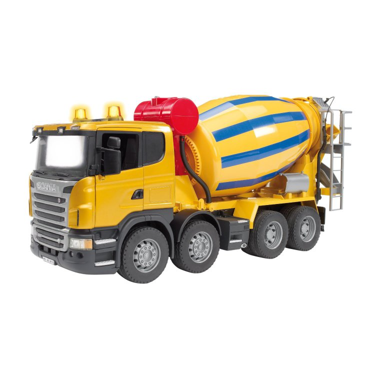 Игрушка Bruder Scania бетономешалка Yellow-Blue 03-554 bruder scania с модулем со световыми и звуковыми эффектами bruder брудер