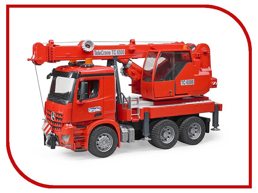 Машина Bruder MB Arocs автокран Red 03-670 игрушка pilotage mb arocs мусоровоз 1 20 rc47816