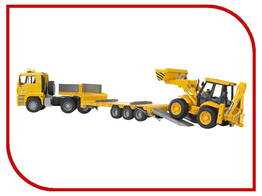 Игрушка Bruder MAN тягач с прицепом–платформой и колёсным экскаватором–погрузчиком JCB 4CX 02-776 комплект носков nike 3ppk lightweight сrew sx4704 901