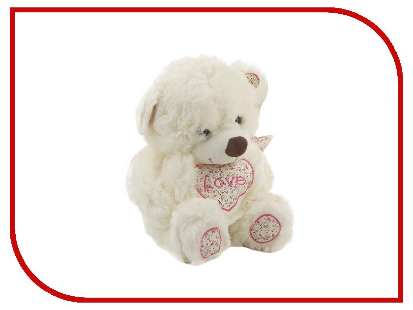Игрушка антистресс Флиппер Мишка с сердцем White ФЛ622
