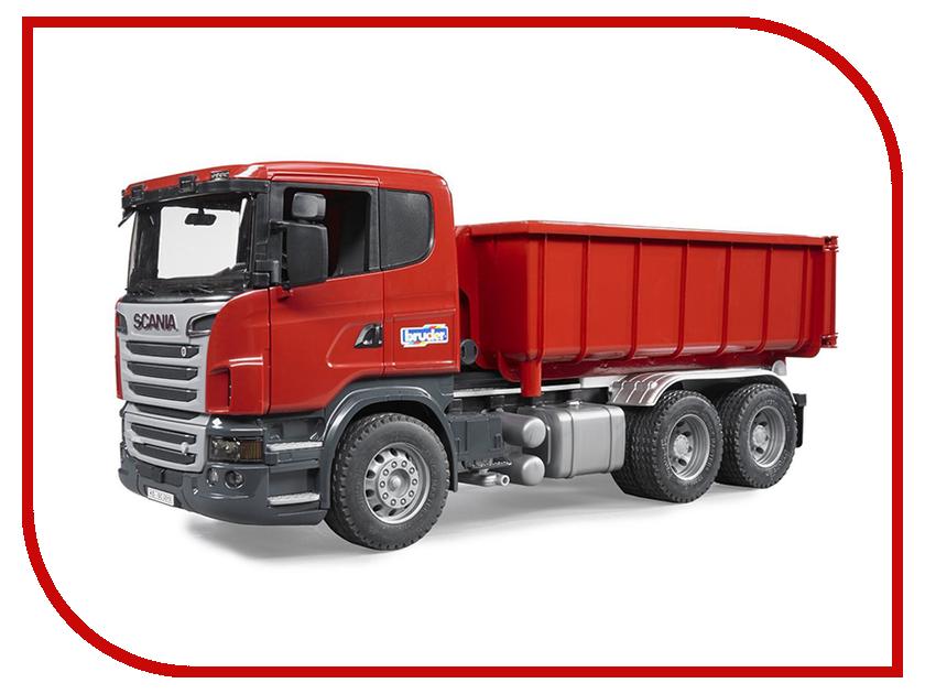 Игрушка Bruder Scania самосвал-контейнеровоз 03-522 bruder лесовоз scania
