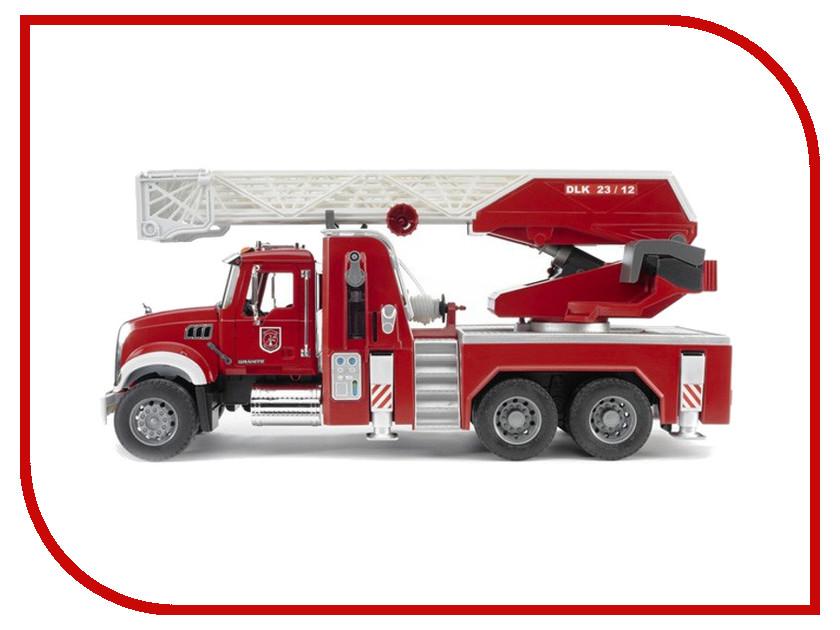 Игрушка Bruder MACK пожарная машина 02-821 bruder мусоровоз mack 02 812