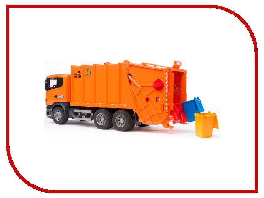 Игрушка Bruder Scania мусоровоз Orange 03-560 bruder лесовоз scania