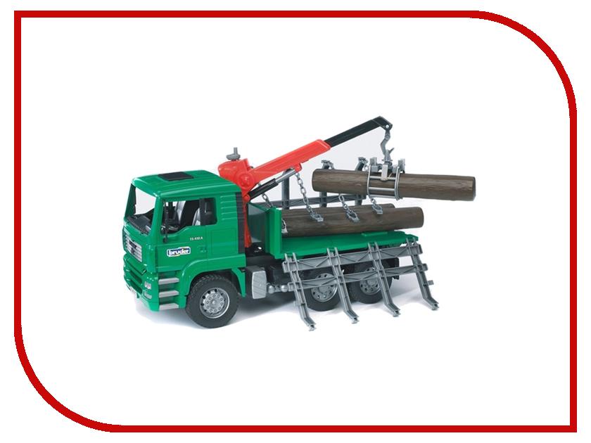 Машина Bruder MAN лесовоз с портативным краном и брёвнами 02-769 машины bruder лесовоз scania с портативным краном и брёвнами
