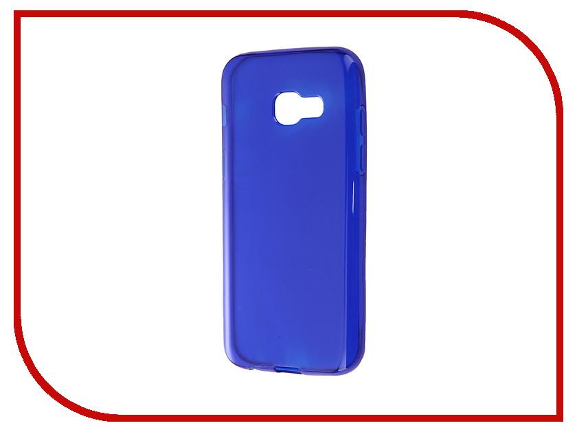 купить Аксессуар Чехол Samsung Galaxy A3 A320F 2017 Gecko Transparent-Glossy Blue S-G-SGA3-2017-DBLU недорого