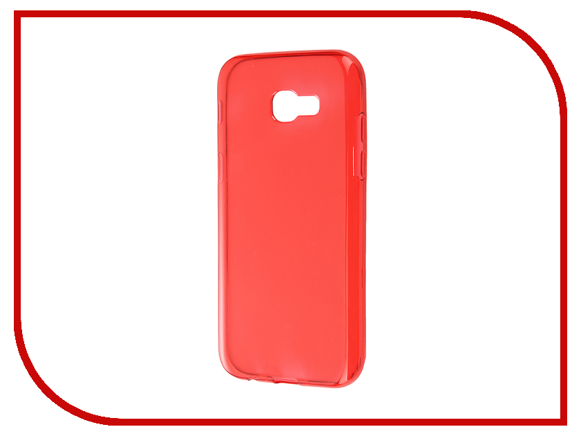 Аксессуар Чехол Samsung Galaxy A5 A520F 2017 Gecko Transparent-Glossy Red S-G-SGA5-2017-RED<br>