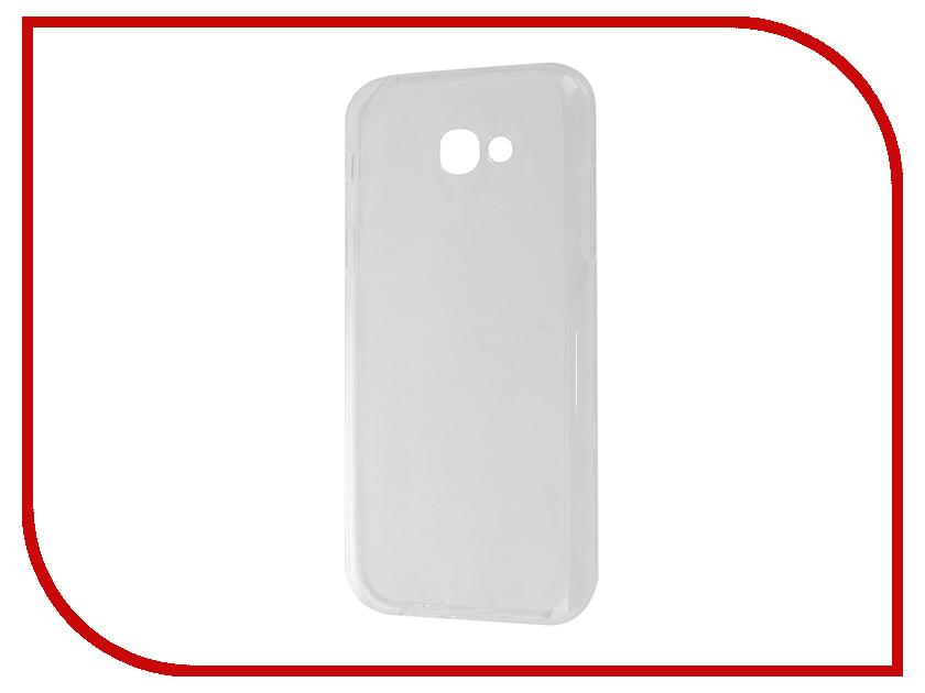 Аксессуар Чехол Samsung Galaxy A7 A720F 2017 Gecko Transparent-Glossy White S-G-SGA7-2017-WH аксессуар чехол samsung galaxy a7 2016 armor air slim white gb f sga7 2016 wh