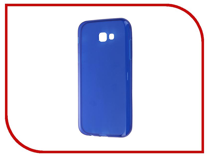 Аксессуар Чехол Samsung Galaxy A7 A720F 2017 Gecko Transparent-Glossy Blue S-G-SGA7-2017-DBLU<br>