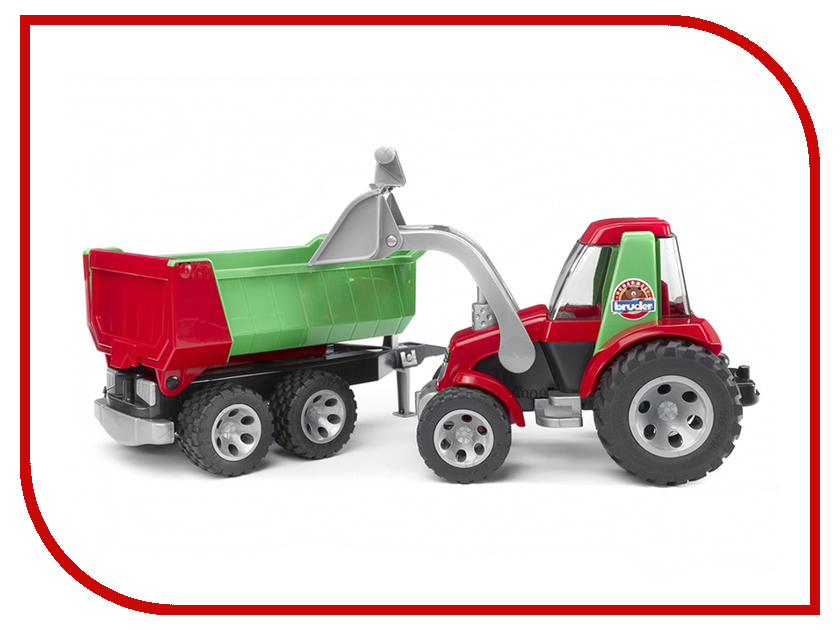 Игрушка Bruder Roadmax Трактор с ковшом и прицепом 20-116 машины bruder погрузчик roadmax с ковшом и разрыхлителем