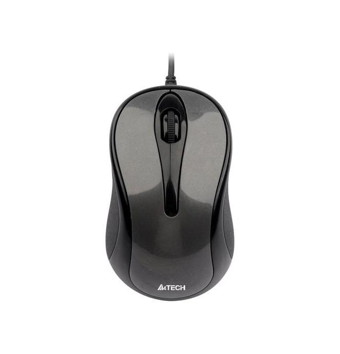 Мышь A4Tech N-350-1 Glossy Grey USB