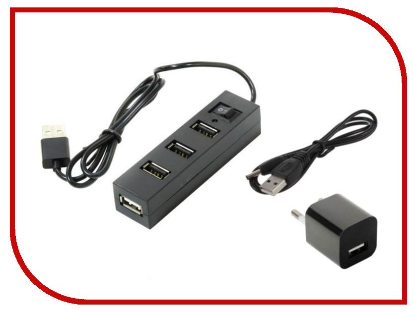 Хаб USB Orient TA-400PSN USB 2.0 4 Ports 30265 хаб usb orient jk 330 usb 3 0 3 ports