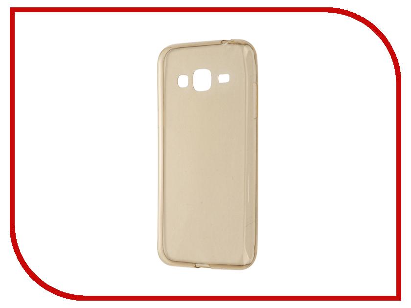 Аксессуар Чехол Samsung Galaxy J3 J320 2016 Gecko Transparent-Glossy Gold S-G-SGJ3-2016-GOLD<br>