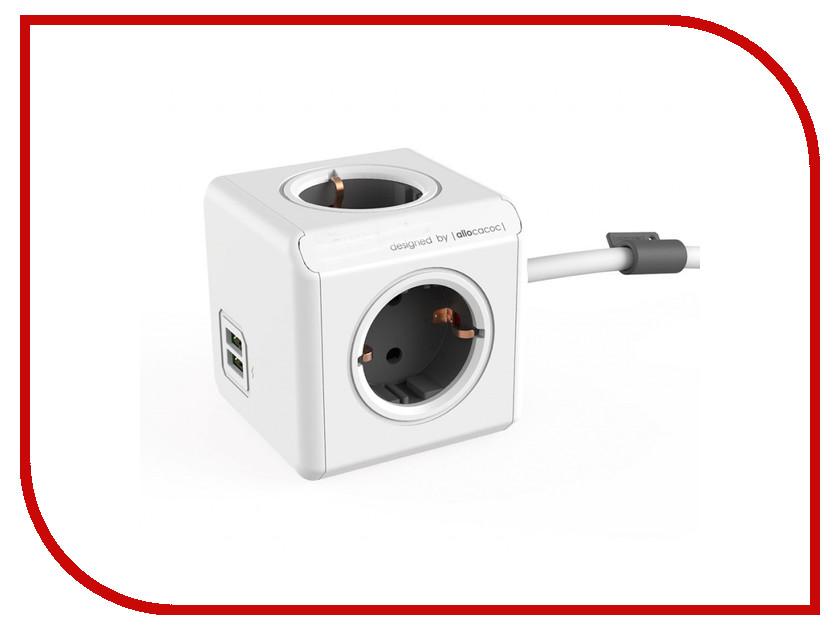 Сетевой фильтр Allocacoc PowerCube Extended 3m Grey 1407/DEEUPC