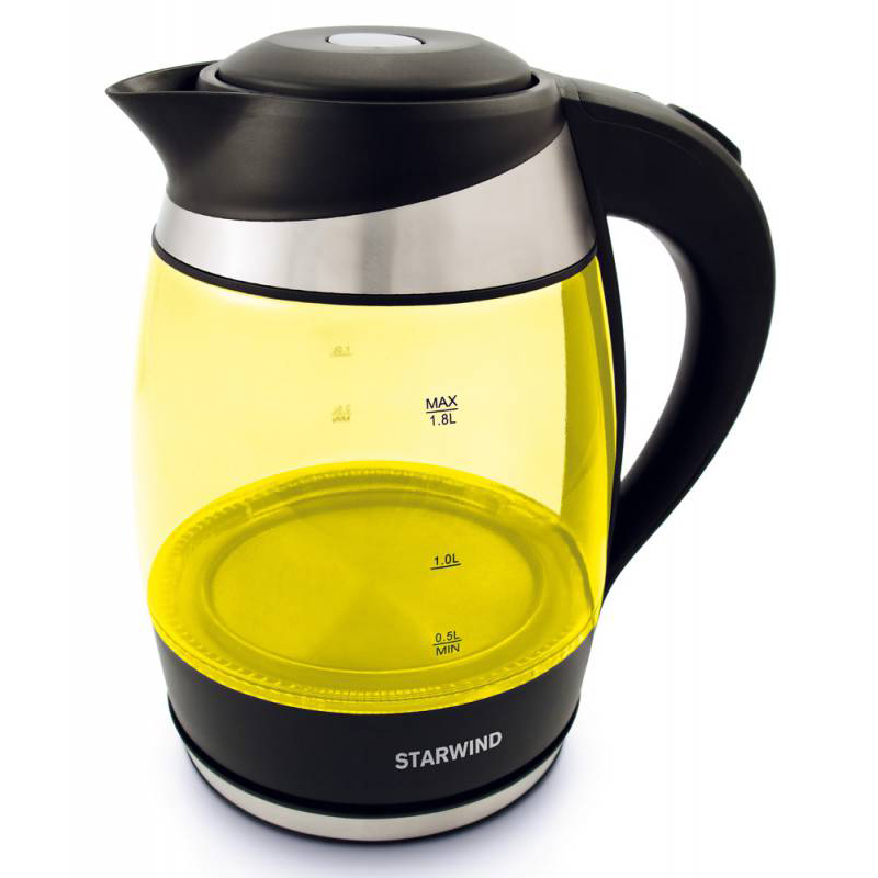 Чайник Starwind SKG2215 1.8L Yellow-Black