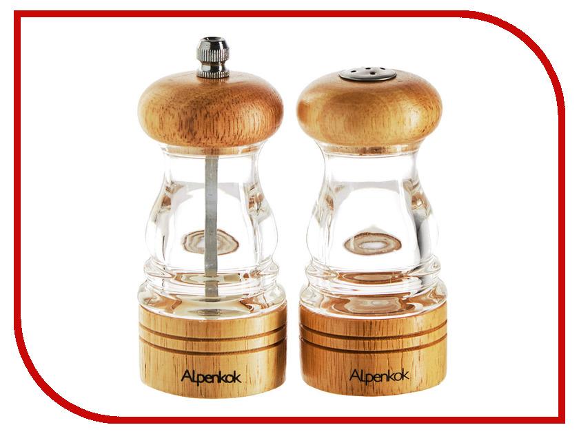 Мельница Набор мельница для специй + солонка Alpenkok AK-7008/2K набор для специй на подставке кухня в стиле кантри