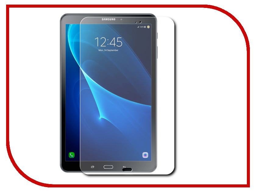 Аксессуар Защитное стекло для Samsung Galaxy Tab A 10.1 T580/T585 Red Line Tempered Glass УТ000009009 flip cover pu leather for samsung galaxy tab a6 10 1 2016 t585 t580 sm t585 t580n tablet case cover soft tpu back cover