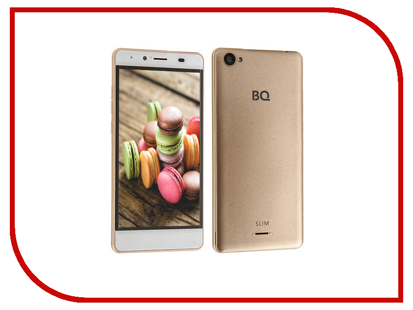 Сотовый телефон BQ 5060 Slim Gold<br>