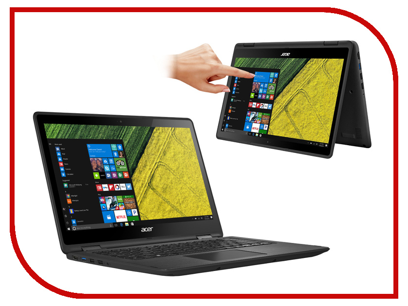 Ноутбук Acer Spin SP513-51-79M8 NX.GK4ER.006 Black Intel Core i7-7500U 2.7 GHz/8192Mb/256Gb SSD/No ODD/Intel HD Graphics/Wi-Fi/Bluetooth/Cam/13.3/1920x1080/Windows 10<br>
