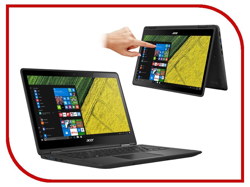 Ноутбук Acer Spin SP513-51-37UY NX.GK4ER.005 Black Intel Core i3-7100U 2.4 GHz/4096Mb/256Gb SSD/No ODD/Intel HD Graphics/Wi-Fi/Bluetooth/Cam/13.3/1920x1080/Windows 10<br>