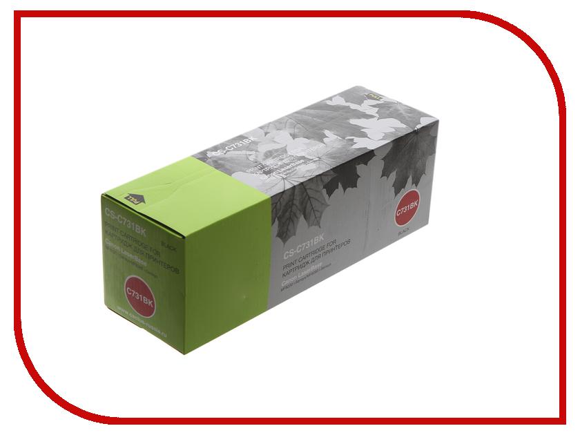 Картридж Cactus CS-C731BK Black для Canon LaserBase MF8230 i-Sensys/MF8280 i-Sensys/MF623cn/LBP7110Cw принтер canon i sensys colour lbp653cdw лазерный цвет белый [1476c006]