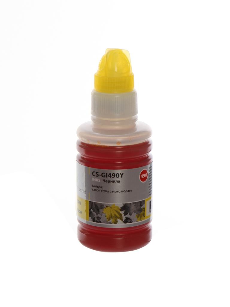 Чернила Cactus CS-GI490Y Yellow для Canon Pixma G1400/G2400/G3400