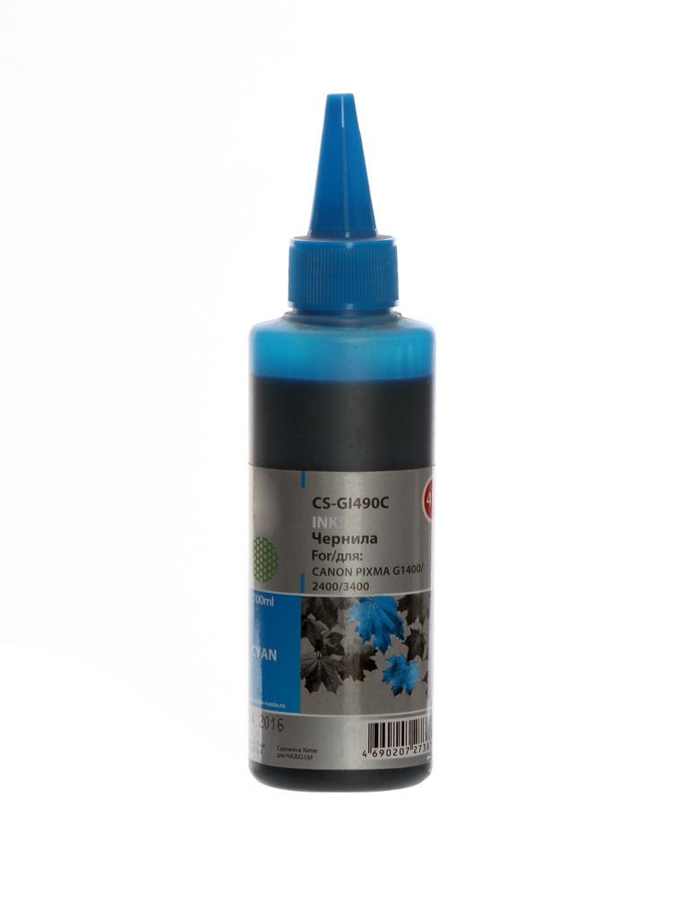 Чернила Cactus CS-GI490C Blue для Canon Pixma G1400/G2400/G3400
