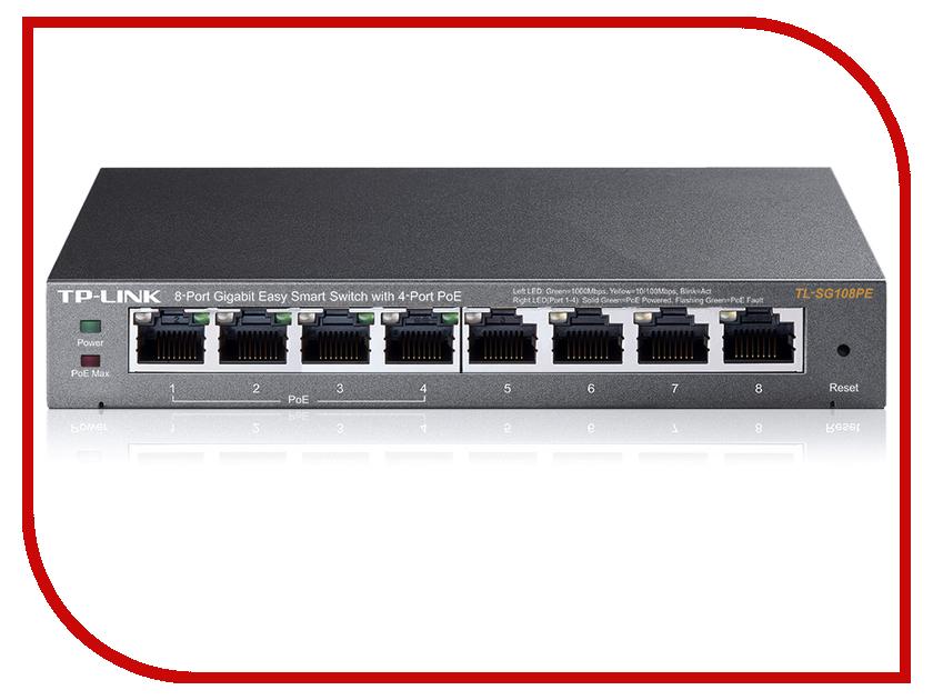 Коммутатор TP-LINK TL-SG108PE<br>
