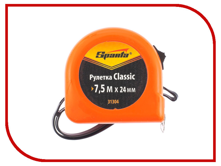 Рулетка Sparta Classic 7.5м 31304 отвертка sparta 133566