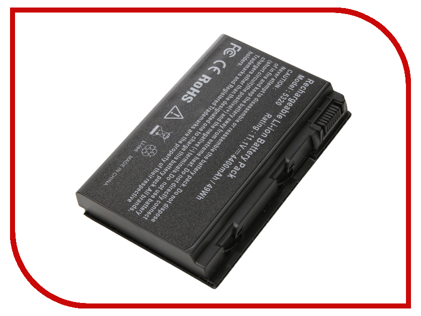 Аккумулятор 4parts LPB-5520 для Acer Extensa 5220/5620/7220/7620/TravelMate 5320/5520/5530/5720/6592/7720 Series 11.1V 4400mAh mbahe02001 icl50 la 3551p laptop motherboard for acer aspire 5320 5720 5720g mb ahe02 001 l03 free cpu tsted good